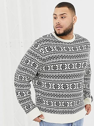Another Influence PLUS Fairisle Knit Sweater - Navy