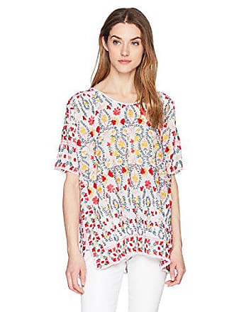 Johnny Was Womens Sibyll Blouse, White, M