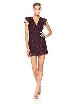 BCBGeneration Womens Lace Dress with Caged Back, Burgundy Combo 12