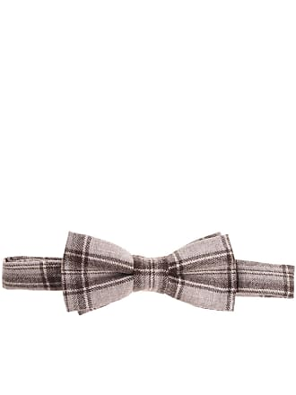 Altea Brown bow tie with checked pattern