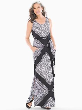 Soma Belted Maxi Dress, Origin Scarf Black, Size XS