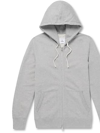 Reigning Champ Slim-fit Mélange Loopback Cotton-jersey Zip-up Hoodie - Gray