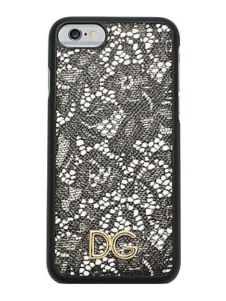 Dolce & Gabbana Case de couro estampada - Preto
