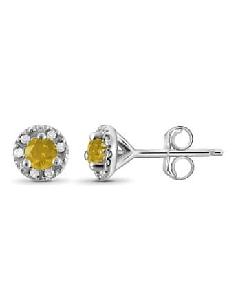 JewelersClub JewelersClub 1/4 Carat T.W. Yellow and White Diamond Sterling Silver Stud Earrings