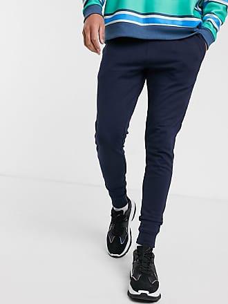 adidas Originals – Samstag – Premium – Marinblå mjukisbyxor