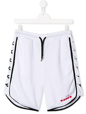 Diadora Short esportivo com logo - Branco