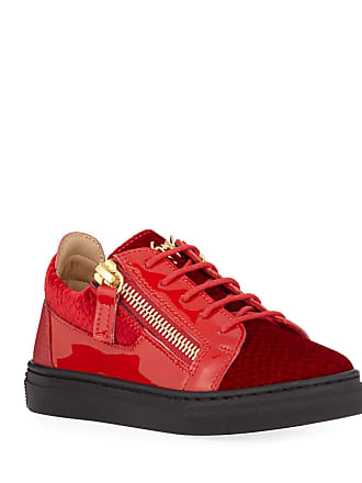 b2bc7e054102c Giuseppe Zanotti London Patent Leather & Velvet Low-Top Sneakers,  Baby/Toddler