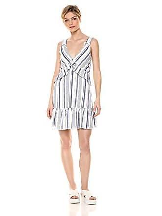 Parker Womens Paradise Sleeveless v-Neck Swing Short Dress, Aquarius Stripe, S