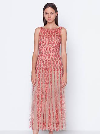Akris Embroidered Tulle Midi Dress