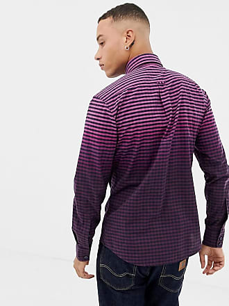 070a10eec BOSS Mabsoot slim fit ombre oxford shirt in purple - Purple