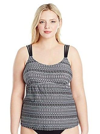 bed99c536211b ... Womens Plus-Size Enchantement Camisole D-Cup Tankini Top, Black. Costa  Del Sol