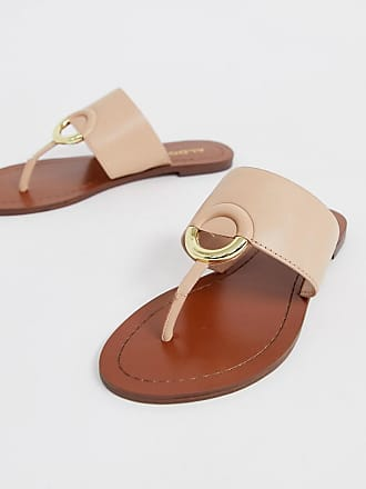 e1ad6a1927fa Aldo Ocericia leather ring post sandals in beige