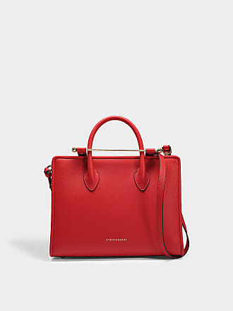 Strathberry The Strathberry Midi Tote in Red Calfskin 09a25803164b2