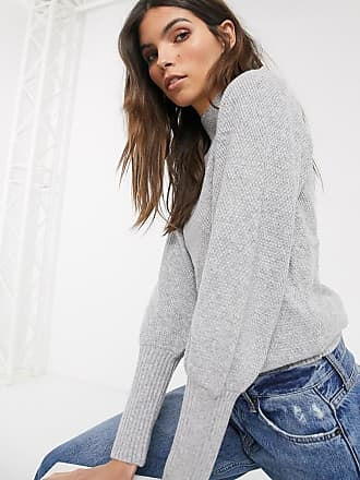 Warehouse jumper with puff sleeves in grey