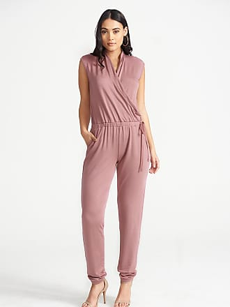 Alloy Apparel Tall Lux Wrap Jumpsuit Rose Size XL/37