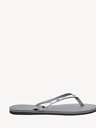 cd0063bd0 Havaianas Womens You Metallic Flip Flop Steel Grey Size 11 12 Rubber From  Sole Society