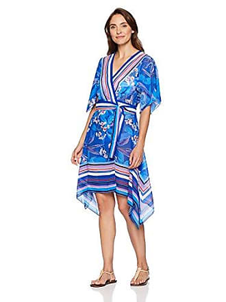 bc5c410062 Gottex Womens Hankerchief Wrap Beach Dress Swimsuit Cover Up, Sakura Multi  Blue, Small