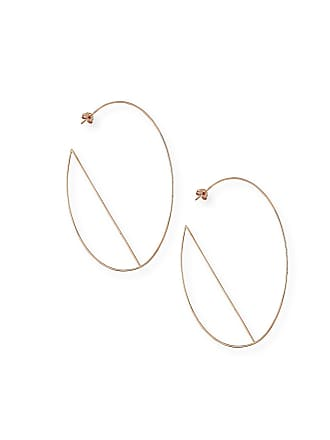 Lana Jewelry 14k Diagonal Wire Hoop Earrings