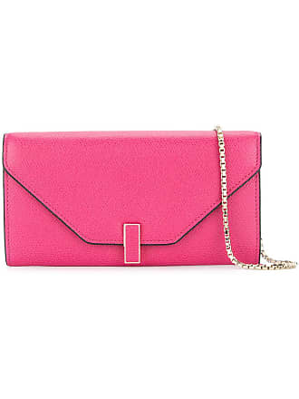 Valextra wallet on chain bag - Pink
