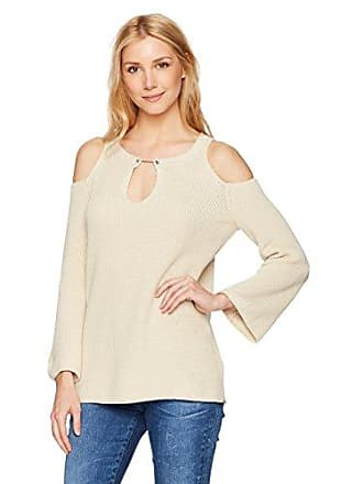 525 america Womens BAR Bell Cold Shoulder, French Vanilla, Large