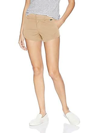 Hurley Juniors Lowrider Flat Front Scallop Hem Chino Shorts, Khaki, 9