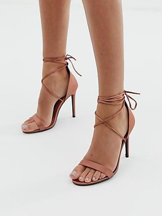 a6ce8b130f9 Missguided Zapatos de tacón minimalistas con cordones de Missguided