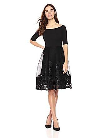 b8f8c62d4488 Betsy & Adam Womens Short Off The Shoulder Party Dress, Black, ...
