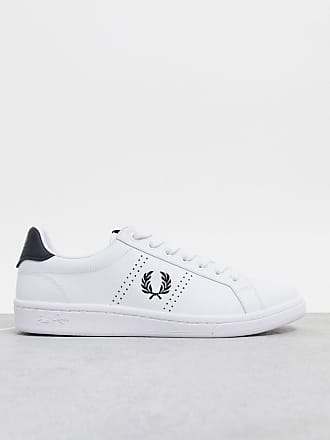 Fred Perry B721 leather tainers in white