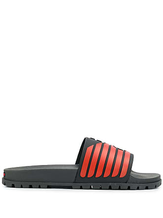 Emporio Armani Eagle slide sandals - Black