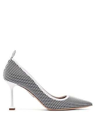 d295f377fa Miu Miu Mesh & Patent Leather Pumps - Womens - Black White