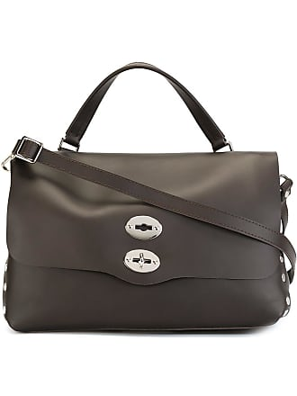 Zanellato medium flap closure tote - Brown