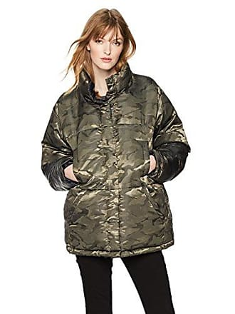 Kendall + Kylie Womens Reversible Puffer Jacket, Army/Navy, Large