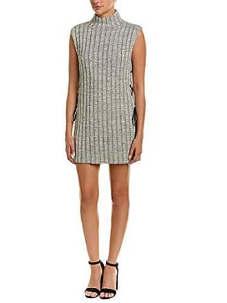 Bcbgmaxazria Womens Mock-Neck Tunic Sweater Top, Metallic Black Combo, L
