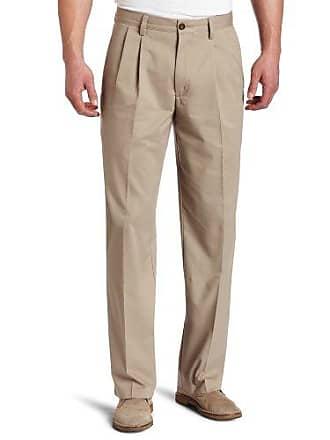 Dockers Mens Big and Tall Classic Fit Easy Khaki Pants - Pleated, British Khaki, 42 36