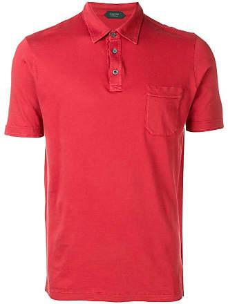 Zanone Camisa polo com bolso - Vermelho