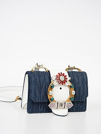 Miu Miu Denim and Leather CRYSTAL Shoulder Bag size Unica