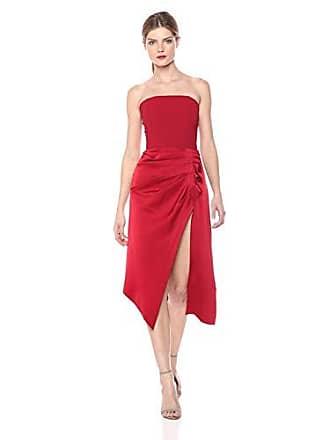 Ramy Brook Womens Carmen Crepe Party Dress, Dark red, 0