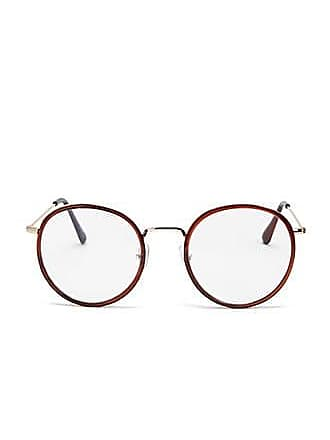 Forever 21 Forever 21 Round Contrast Readers Burgundy/clear