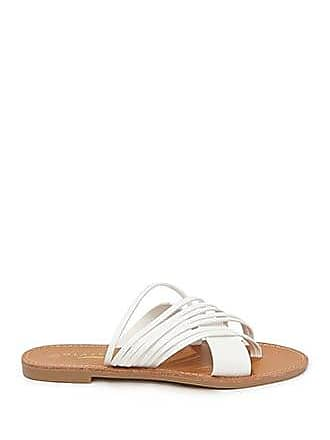 Forever 21 Forever 21 Strappy Faux Leather Sandals White