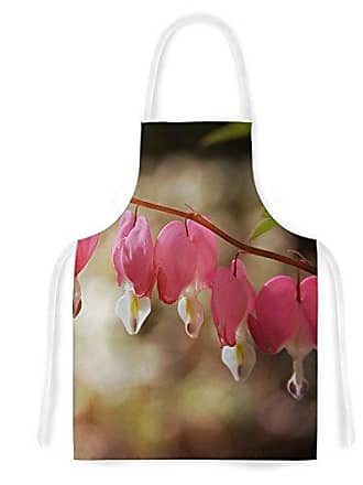 KESS InHouse Angie TurnerBleeding Hearts Pink Flower Artistic Apron, 31 by 35.75, Multicolor