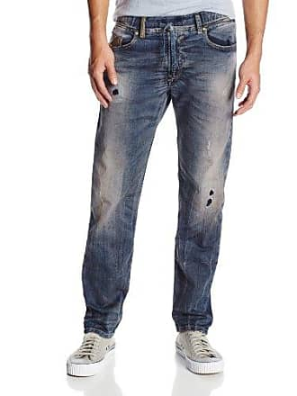 950aa480 Diesel Mens Waykee-Ne Regular Straight-Leg Jean 0605X, Denim, 34x32