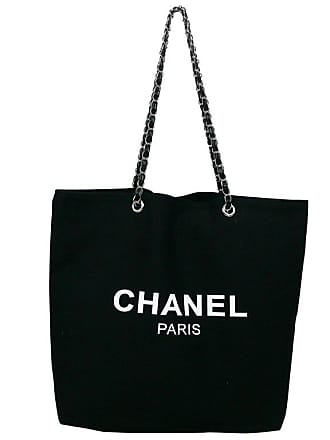 0afd6181dd01 Chanel Black Canvas Tote Shopping Promotional Gift Bag