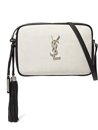 Saint Laurent Lou Canvas And Leather Shoulder Bag - Off-white