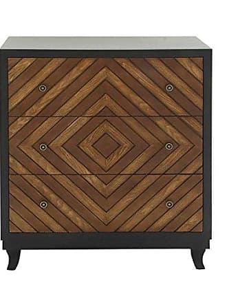UMA Enterprises Inc. Deco 79 48625 Wood 3 Drawer Dresser, 32W/37H
