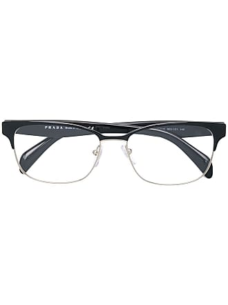 Prada Armação de óculos retangular - Preto