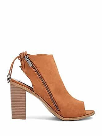 Forever 21 Forever 21 Faux Suede Cutout Booties Chestnut