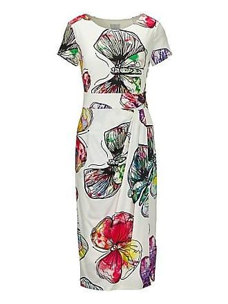 befea52cc87dd4 Madeleine Schlankes Kleid mit trendigem Schmetterlingsprint Damen weiss/ multicolor / weiss