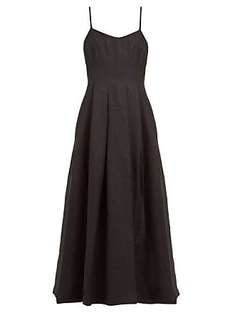 Mara Hoffman Lauren Panelled Linen Midi Dress - Womens - Black