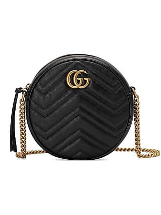 Gucci Bolsa tiracolo GG Marmont mini - Preto