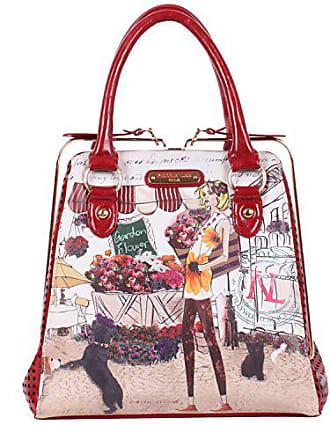 Nicole Lee Kayla Signature Print Frame Bag, United States Carry-On, Garden Flower